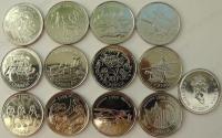 Канада. 1999. 25 центов. Миллениум. 12 монет. UNC
