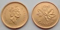Канада. 1 цент. 2002. Юбилей. 50 лет правления. UNC