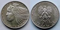 Польша. 20 злотых. 1975. Международный год женщины. UNC