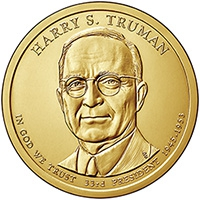 США. 1 доллар. Президенты. №33. 2015. Harry Truman / Гарри Трумен. P. UNC