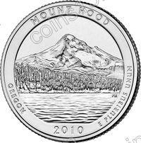 США. 25 центов(квотер). Парки. №05. 2010. Mount Hood National Forest. P. UNC