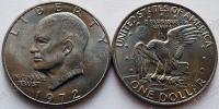 США. 1 доллар. 1972. Эйзенхауэр. С орлом. P. UNC