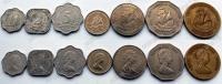 Восточно-Карибские Штаты. Набор. 7 монет. Парусники. Молодая Елизавета. Из обращения