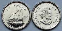 Канада. 10 центов. 2004. Парусник. UNC