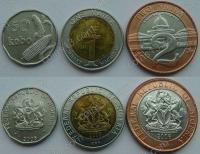 Нигерия. 2006. Набор. 3 монеты. 2*Биметалл
