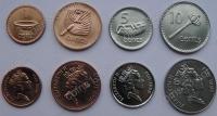 Фиджи. Набор. 4 монеты. 1-10 центов