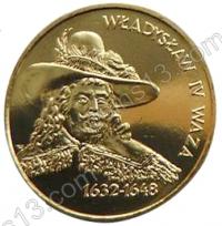 Польша. 1999. 2 злотых. #028. Владислав IV Ваза (1632 - 1648) [польские короли]