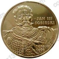 Польша. 2001. 2 злотых. #045. Ян III Собеский (1674-1696) [польские короли]