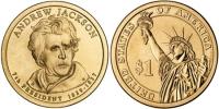 США. 1 доллар. Президенты. №07. 2008. Andrew Jackson / Эндрю Джексон. D. UNC
