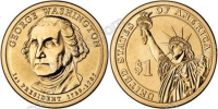 США. 1 доллар. Президенты. №01. 2007. George Washington / Джордж Вашингтон. P. UNC