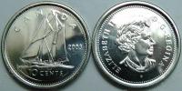 Канада. 10 центов. 2003. Парусник. UNC