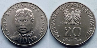 Польша. 20 злотых. 1978. Мария Конопницкая. aUNC/UNC