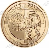 Польша. 1999. 2 злотых. #025. Вступление Польши в НАТО [даты]