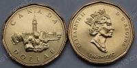 Канада. 1 доллар. 1992. 125 лет Конфедерации. Парламент. UNC