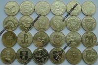 Польша. 2 злотых. 2004. Полный годовой набор. 24 монеты. UNC
