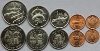 Исландия. 1996. Набор. 5 монет. Рыбы. Животные. UNC