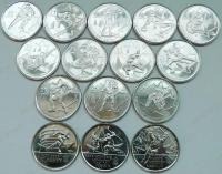 Канада. Олимпиада в Ванкувере. 15 монет. Спорт. Brilliant UNC
