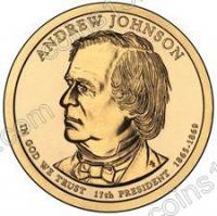 США. 1 доллар. Президенты. №17. 2011. Andrew Johnson / Эндрю Джонсон. P. UNC