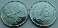 Канада. 25 центов. 2004. Олень. Животные. UNC