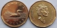 Канада. 1 доллар. 1996. Утка. Животные. UNC