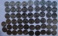 США. 1999-2009. Квотеры штатов. 56 монет. P. UNC