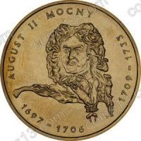Польша. 2002. 2 злотых. #051. Август II Сильный (1697-1706, 1709-1733) [польские короли]