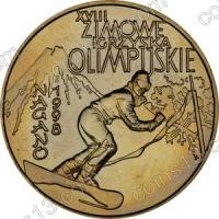 Польша. 1998. 2 злотых. #015. Нагано 1998. XVIII Зимние Олимпийские игры [спорт]