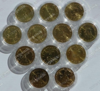 Капсулы для монет. Диаметр 22 мм с ободком (внеш.диматр 28 мм) [ГВС, монеты входят плотно]. Schulz