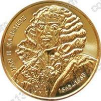 Польша. 2000. 2 злотых. #037. Иоанн II Казимир (1648 - 1668) [польские короли]