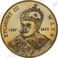 Польша. 1998. 2 злотых. #016. Сигизмунд III Ваза (1587 - 1632) [польские короли]