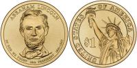 США. 1 доллар. Президенты. №16. 2011. Abraham Lincoln / Авраам Линкольн. D. UNC