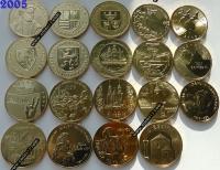 Польша. 2 злотых. 2005. Полный годовой набор. 19 монет. UNC