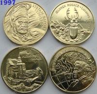 Польша. 2 злотых. 1997. Полный годовой набор. 4 монеты. UNC
