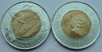 Канада. 2 доллара. 1999. Шаман. Нунавут. Биметалл. UNC