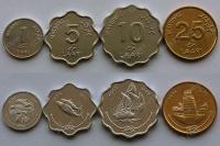 Мальдивы. Набор. 4 монеты. UNC