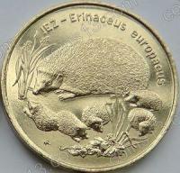 Польша. 1996. 2 злотых. #008. Ёж / еж. Erinaceus europaeus [животный мир]