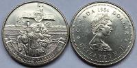 Канада. 1 доллар. 1984. 450 лет открытия Канады Жаком Картье. UNC