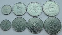 Грузия. 1993. Набор. 4 монеты.Животные. UNC