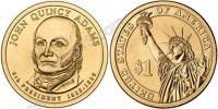 США. 1 доллар. Президенты. №06. 2008. John Quincy Adams / Джон Куинси Адамс. P. UNC