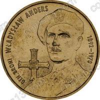 Польша. 2002. 2 злотых. #053. Генерал-лейтенант Владислав Андерс (1892-1970) [личности]