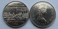 Канада. 1 доллар. 1982. Конституция. UNC