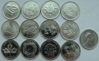Канада. 2000. 25 центов. Миллениум. 12 монет. UNC
