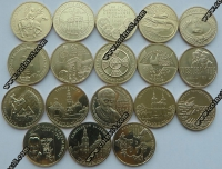Польша. 2 злотых. 2009. Полный годовой набор. 18 монет. UNC