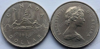 Канада. 1 доллар. 1983. Каноэ. UNC