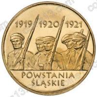 Польша. 2011. 2 злотых. #219. Силезские восстания [история]