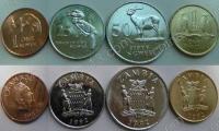 Замбия. Набор. 4 монеты. Животные. UNC