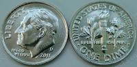 США. 10 центов. 2011. D. (Dime). UNC