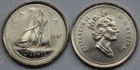 Канада. 10 центов. 1997. Парусник. UNC