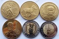 Польша. 2 и 5 злотых. 2014. Полный годовой набор. 6 монет. UNC
