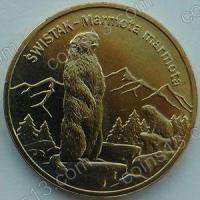 Польша. 2006. 2 злотых. #110. Альпийский сурок, Marmota marmota [животный мир]
